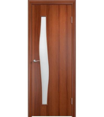 ламинированнная дверь Волна ПО итальянский орех