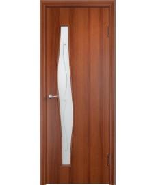 Дверь Волна ПОФ итальянский орех