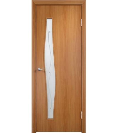 ламинированнная дверь Волна ПОФ миланский орех