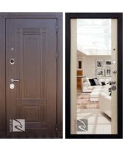 Входные двери райтвер мадрид, с зеркалом внутри
