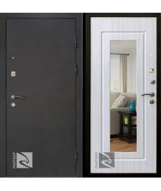 дверь металлическая райтвер престиж лайф зеркало белый дуб (белая панель)