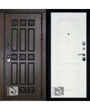дверь металлическая райтвер спарта темный дуб / белый