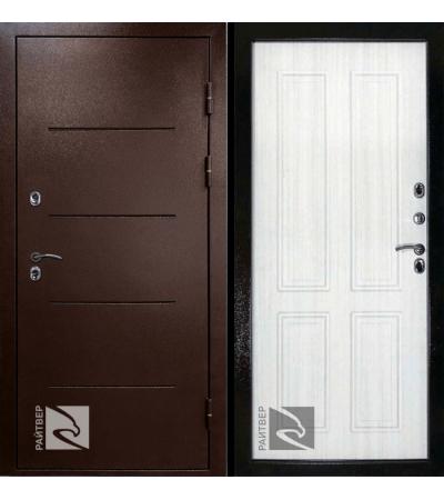 дверь металлическая райтвер термо терморазрыв белый дуб