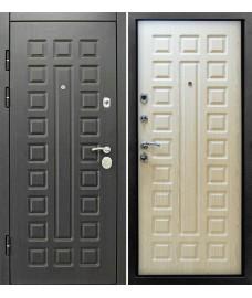 Дверь металлическая Сенатор 3К Венге/Беленый дуб