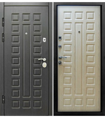 Дверь металлическая Сенатор Венге/Беленый дуб