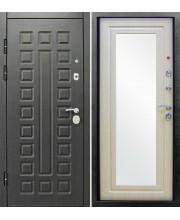 Дверь металлическая Сенатор Зеркало Венге/Беленый дуб