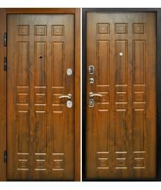 Дверь металлическая Спарта 3К Винорит Темный дуб/Темный дуб