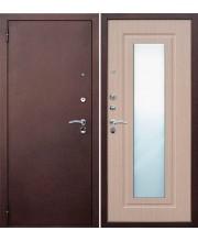 Дверь металлическая Царское зеркало Беленый дуб