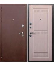 Дверь металлическая Трое РФ 3К Беленый дуб
