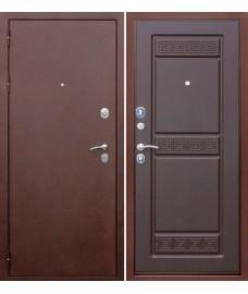 Дверь металлическая Трое РФ 3К Венге