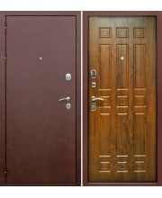 Дверь металлическая Трое РФ 3К Винорит Грецкий орех