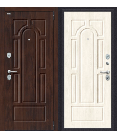 Дверь входная металлическая Porta S 104.П22 Антик Серебро / Wenge Veralinga