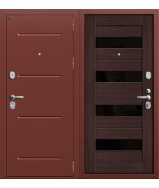 Дверь входная металлическая Groff Р2-210 Антик Медь / П-1 Темный Орех