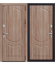 Дверь входная металлическая Groff Р2-216 Антик Серебро / П-25 Беленый Дуб