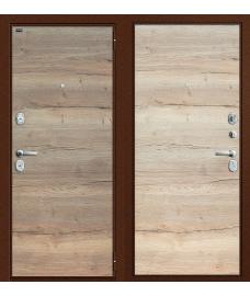 Дверь входная металлическая Groff Т2-223 Антик Медь / Wenge Veralinga