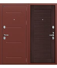 Дверь входная металлическая Groff T3-223 П-28 Темная Вишня / Cappuccino Veralinga