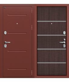 Дверь входная металлическая Groff Т2-204 Антик Серебро / Cappuccino Crosscut