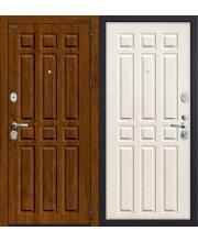 Дверь входная металлическая Groff Р3-312 П-28 Темная Вишня / П-25 Беленый Дуб