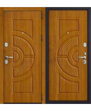 Дверь входная металлическая Groff Р3-310 П-28 Темная Вишня / П-25 Беленый Дуб