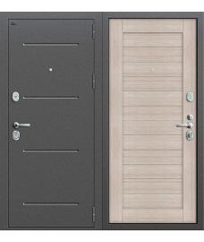 Дверь входная металлическая Groff Т2-204 Антик Медь / Wenge Crosscut