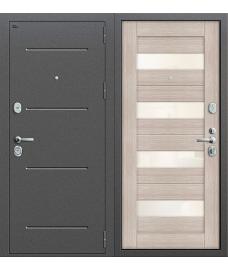 Дверь входная металлическая Groff Т2-220 Антик Серебро / Wenge Veralinga