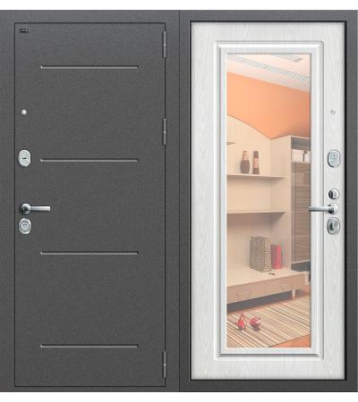 Дверь входная металлическая Groff Р2-216 Антик Серебро / П-28 Темная Вишня